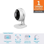 Samsung SNH-V6431BN Home Smart Cam Full HD Wifi 1080p IP Camera Bundle